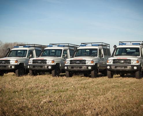 Toyota Landcruiser HZJ78 Troopcarier Converted into Bloodtransport Ambulance