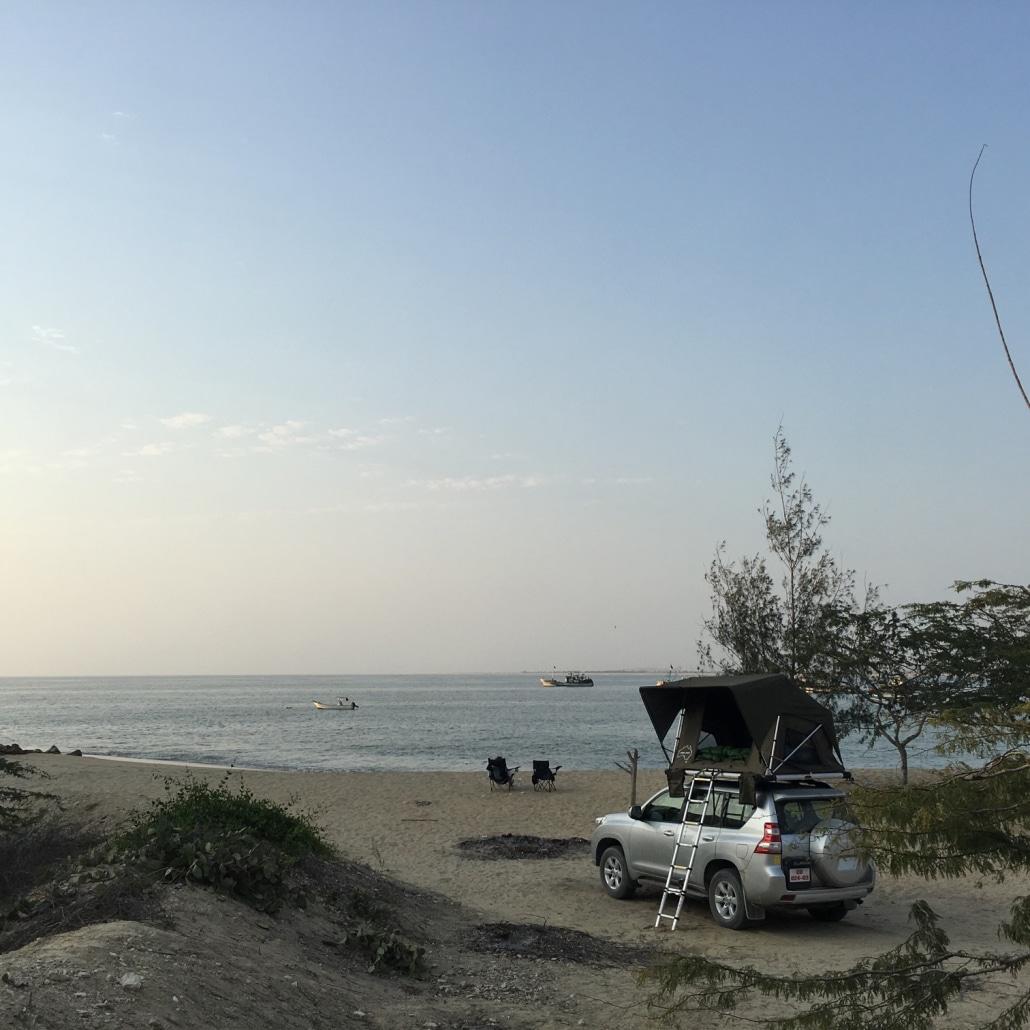 vehicle at the beach