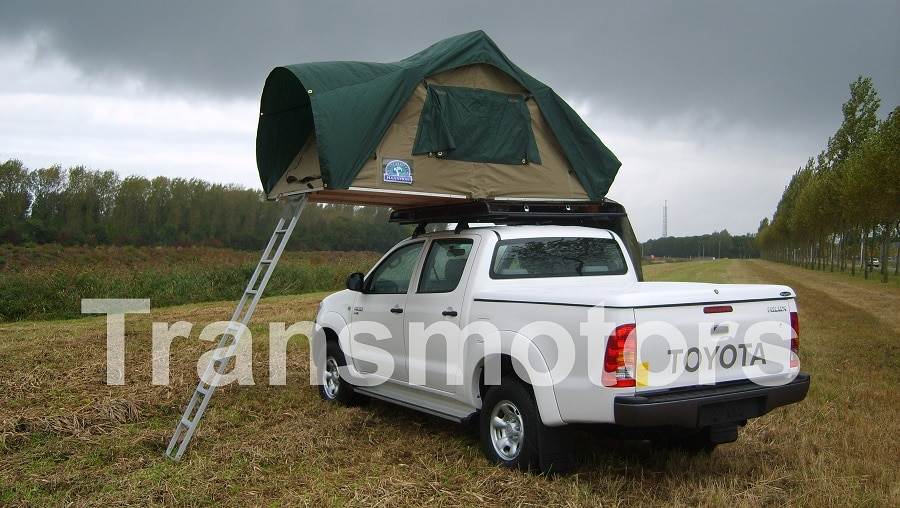 Tourism car with tent