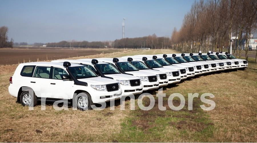 Cars on field